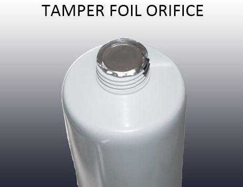 Tamper foil orifice web