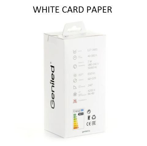white card paper